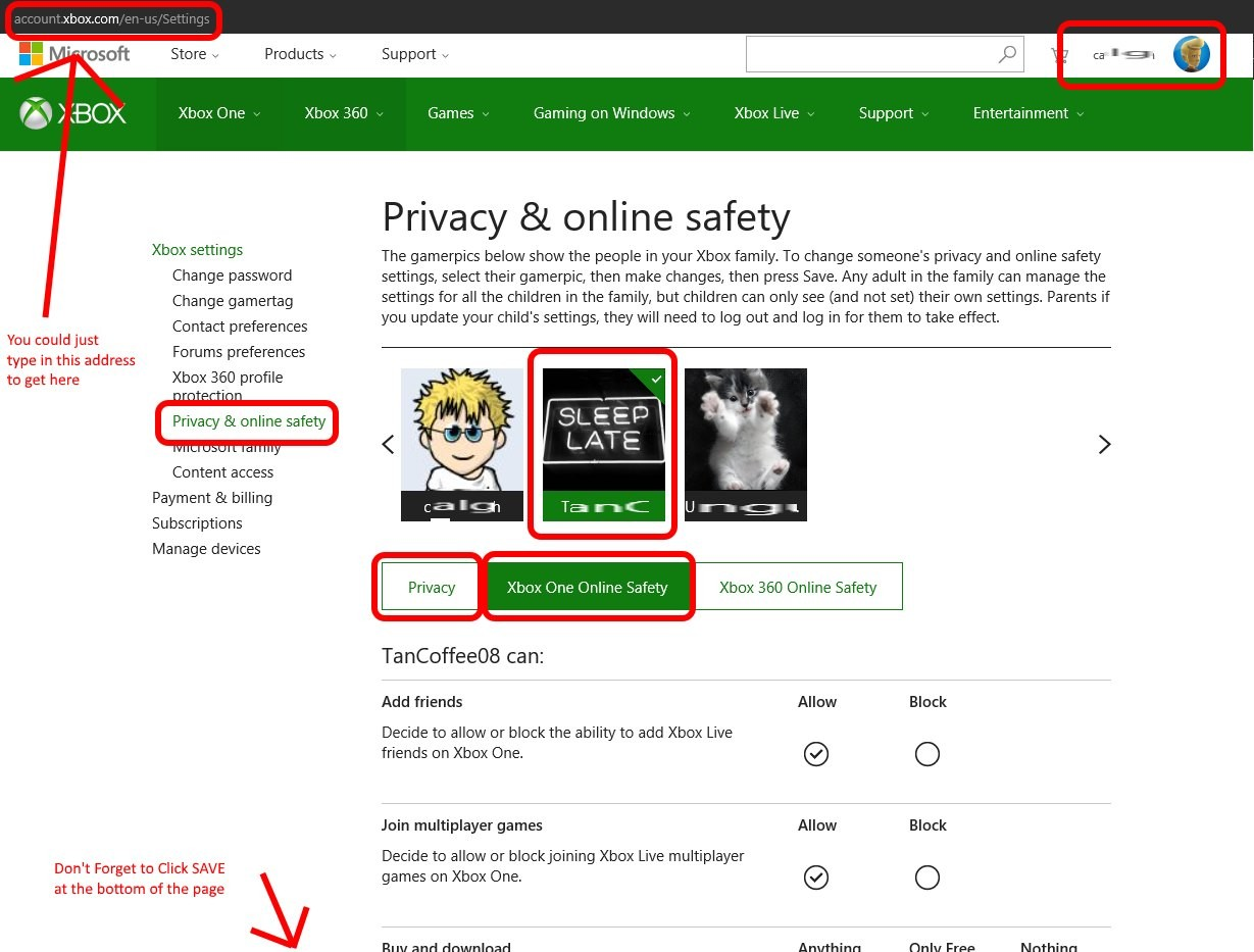 Howtochangexboxonesecurityandprivacy
