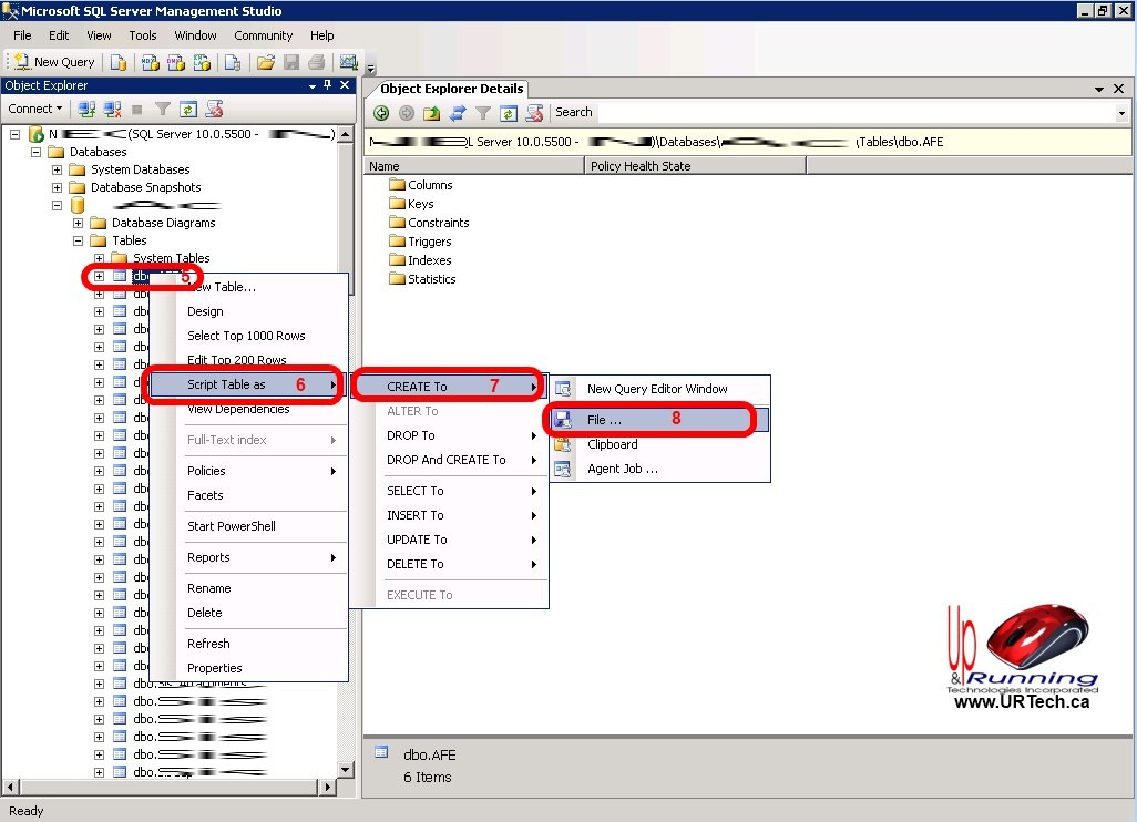 SOLVED: How to Export SQL 2008 2012 Table Schema – Up