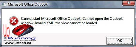cannot start microsoft office outlook
