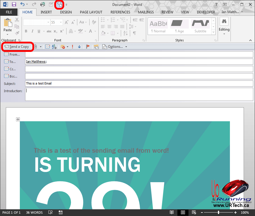 template email outlook 2013