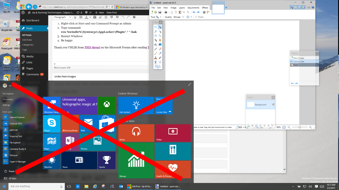 Solved windows 10 start menu and modern apps do not function up windows10 no start menu modern apps ccuart Gallery