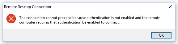 connection-cannot-proceed-because-authentication-is-not-enabled