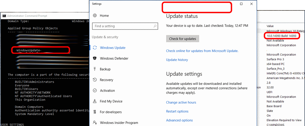 SOLVED: Window 10 1607 Not Applying GPO's For Windows Update
