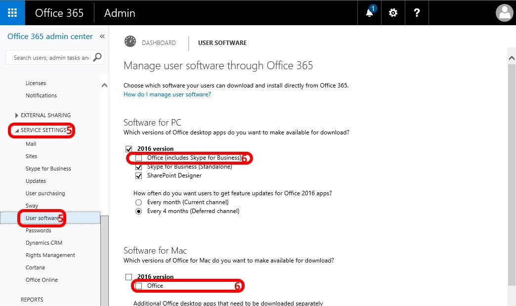 how to turn off conversations in office 365