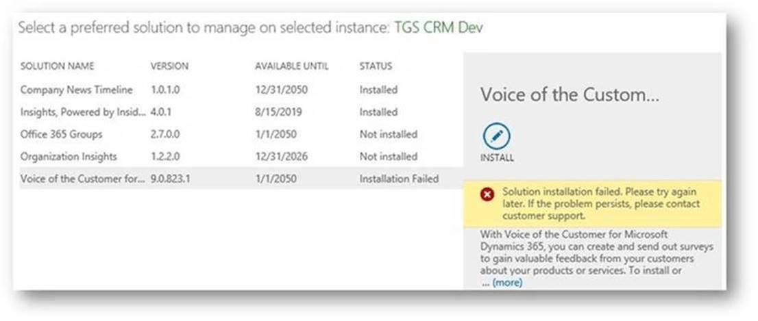 Solved  Crm Online Solution Install Error Id  Erroronauthorizationcheck