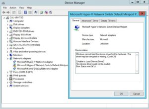Microsoft Hyper V Network Switch Default Miniport Driver Free Download