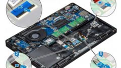 Dell-latitude-5490-ribbon-connectors-under-battery