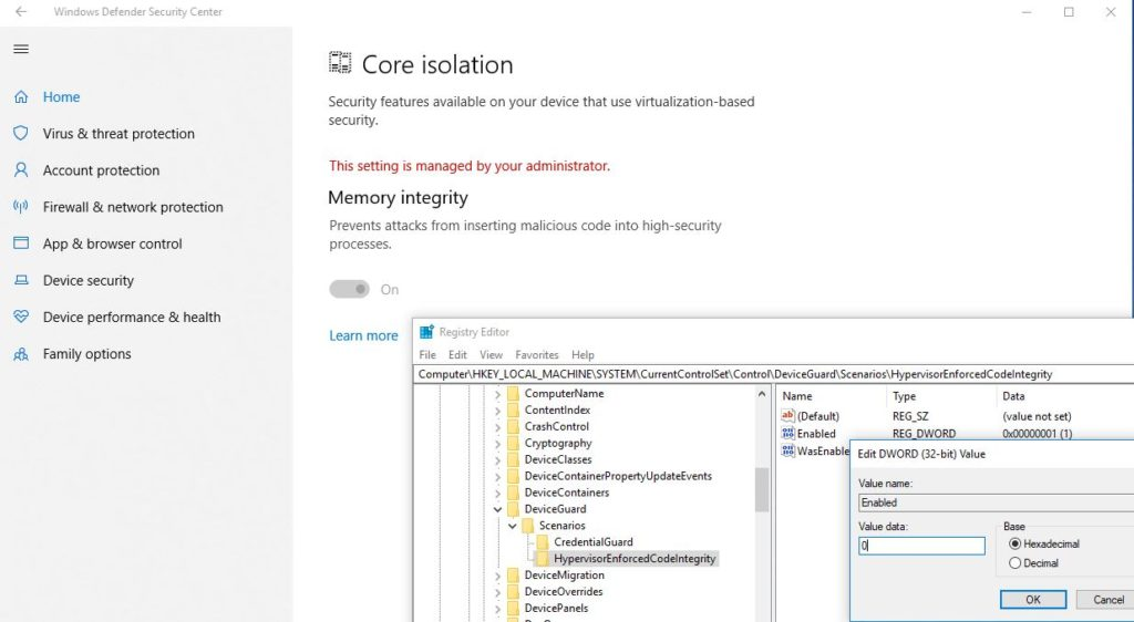 core-isolation-memory-integrity-setting-managed-by-administrator