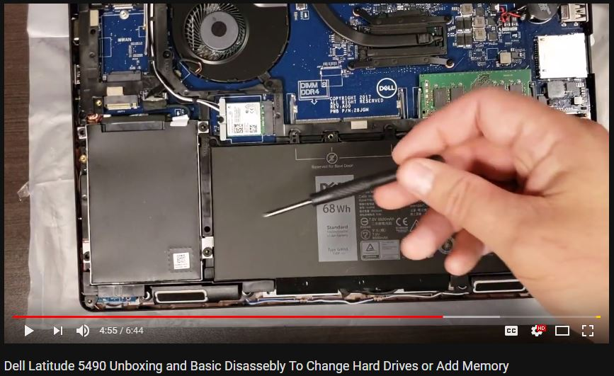 VIDEO: Dell Latitude 5490 Unboxing and Basic Disassembly To