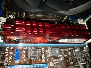 GSkill-Red-RIP-RAM-on-PC-motherboard