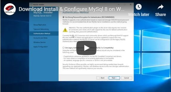 VIDEO: How To Download Install & Configure MySQL on Windows