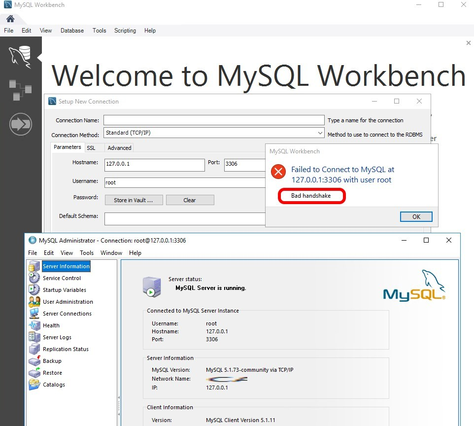 SOLVED: Bad Handshake – MySQL Workbench Failed To Connect To