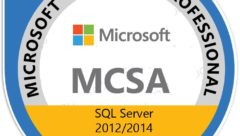 Microsift MCSA SQL 2012 2014 badge