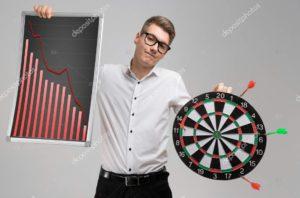deposit photos graph man darts
