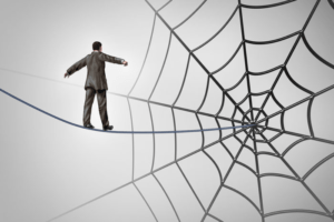 man-spiderweb-walk
